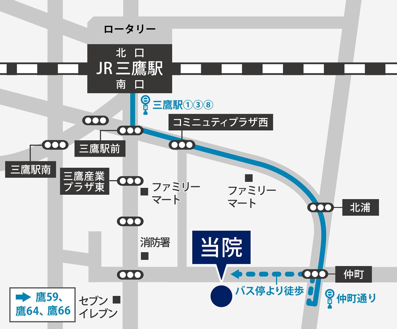 東京国際大堀病院へバスでご来院の方
