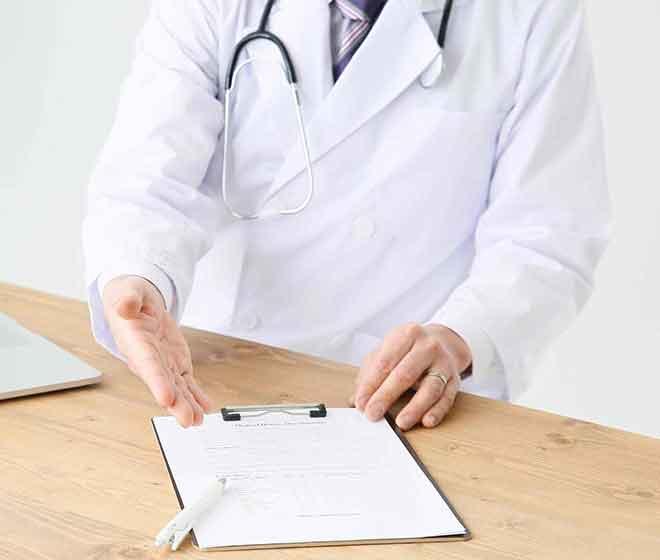 手術同意書(承諾書)への承諾と署名
