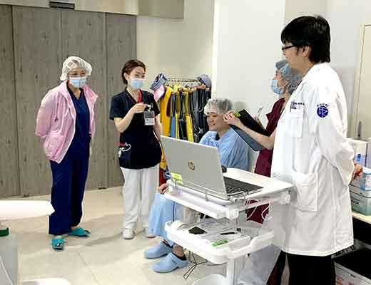 手術室へ入室