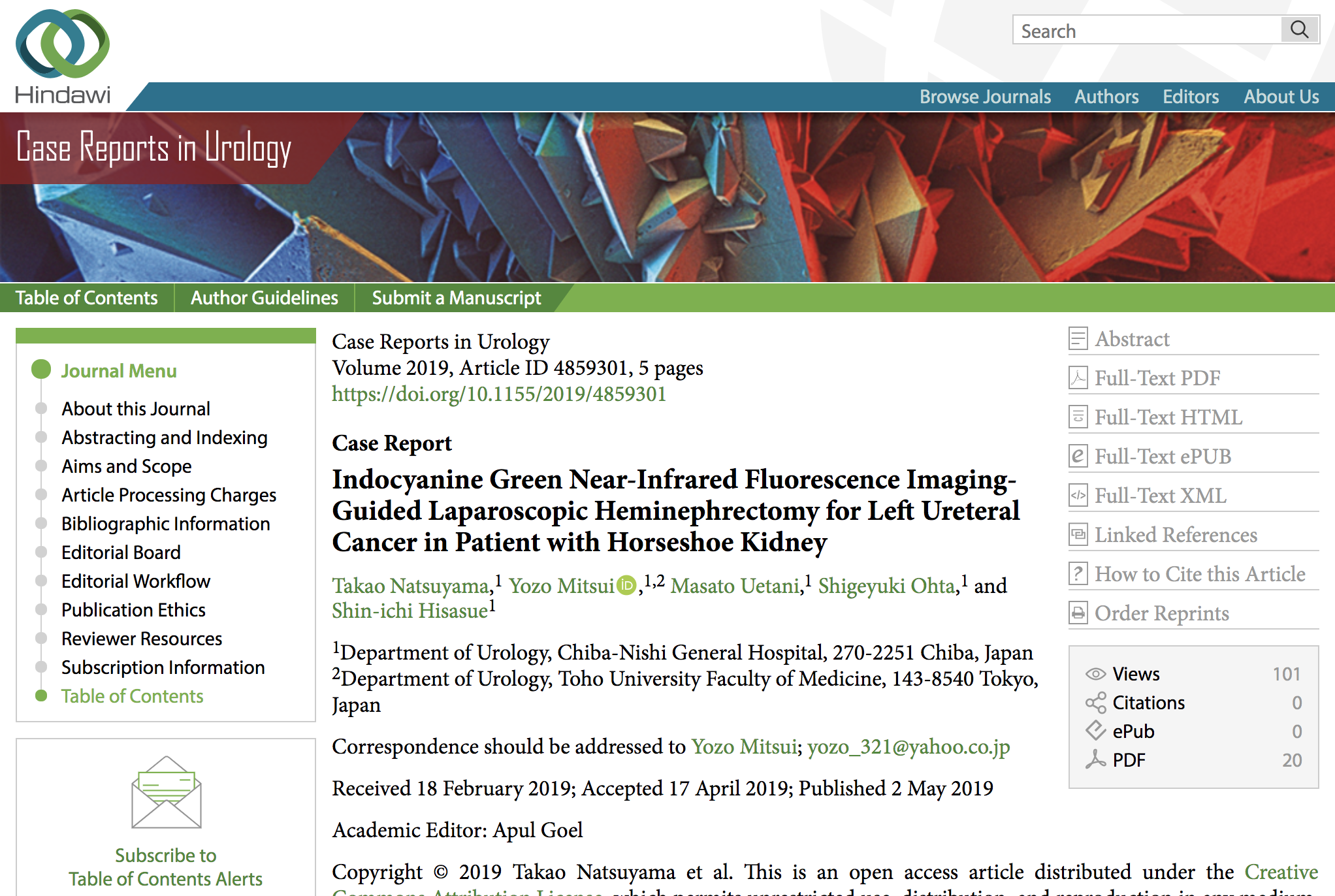 Case Reports in Urology