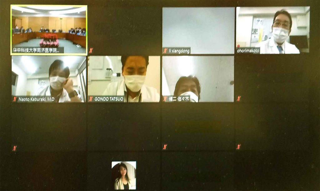 中国とのオンライン学会風景